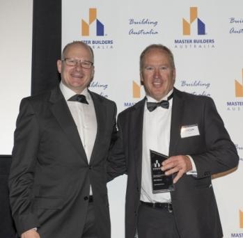 Andrew Lyden Master Builder Awards Cermony